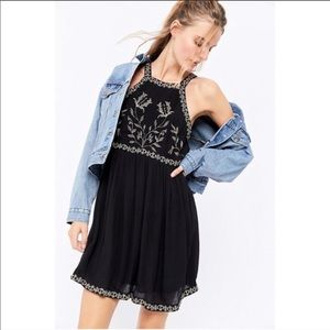 Urban Outfitters Westerly Embroidered Mini Dress
